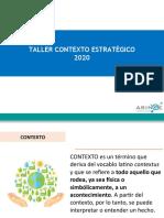 PRESENTACION CONTEXTO ESTRATEGICO 2020
