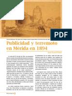 Publicidad y terremoto en Mérida (1894)