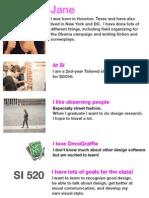 lab 1 - personal info slide