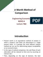 Present Worth Method of Comparison lecture 7&8.pptx