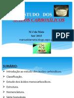 016 Estudos Dos Ácidos Carboxilicos 1