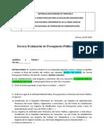 3er Parcial Presupuesto Publico y Privado RO Examen.