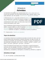 100 Ejemplos de Adverbios (explicado)
