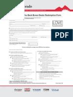 Dacor - Love You Back Bonus Dealer Redemption Form