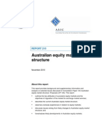 ASIC - Australian Equity Market Structure