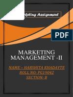 Harshita's MARKETING ASSIGNMENT