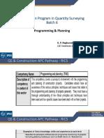 Programing  Planning