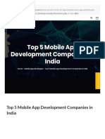 Dxminds Com Top 5 Mobile Application Development Companies in India