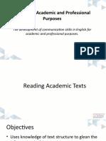 Reading Academic Texts Week 1