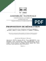La proposition de résolution