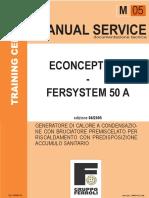 manuale servizio epoca f22ns equivalente ferroli 2569_354M0142 Econcept 50 A 06.2005 IT
