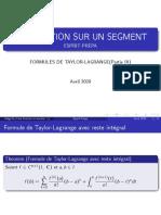 Integration Partie IX FORMULES DE TAYLOR-LAGRANGE