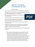 trabajo practico 7 Valoración organísmica-Condiciones de valor