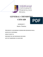Experiment 7 CHM420