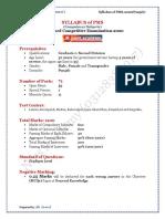 Syllabus of PMS Punjab (Comp Subjects) (April, 2020)