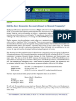 Did The Past Economic Recovery Result In Shared Prosperity?