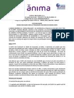 Fato Relevante - UniFG Port.
