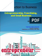 Introduction to Business - Chapter 3 - Entrepreneurship, Franchising and Small Business