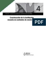 PENSAR Y HACER EDUCACIÓN EN CONTEXTOS DE ENCIERRO. Construcción de la institución escuela en contextos de encierro