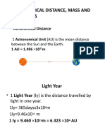 ASTRONOMICAL DISTANCE, MASS AND TIME SCALES