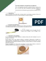 INSTRUMENTOS DE MEDICION - DIAMETRO Y ALTURA