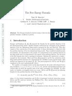 The Free Energy Formula