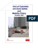 DDOT Work Zone Safety and Mobility - Policy Report - 2007