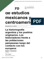 Etnografía de los confines - La historiografía argentina y los pueblos originarios