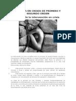 TERAPIA EN CRISIS DE PRIMERO Y SEGUNDO ORDEN