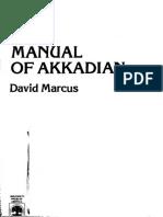 David Marcus - A Manual of Akkadian-University Press of America (1978).pdf