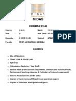 Course file - UD_lesson plan_AR6911