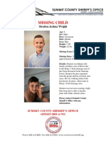 Stratton Wright Missing Flyer