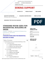 Standard Room Sizes for Residential Building in India