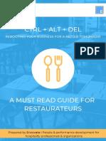 Actionable Restaurant activities cost control