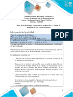 Guía de actividades y rúbrica de evaluación – Tarea  5-Análisis de los conocimientos