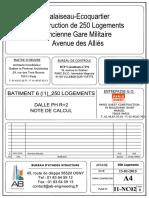 STR_250 LOGEMENTS_BATIMENT 6 ( I1)_NDC_hnhnDALLE TOITURE_NCI102_IND 0