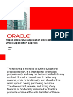 Rapid, Declarative Application Development With Oracle Application Express
