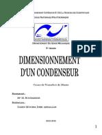 Dimensionnement d'un condenseur