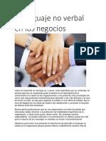 El lenguaje no verbal en los negocios