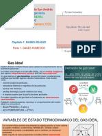 CAP 1 GASES REALES. Parte 1 Gases Húmedos CIV 2020