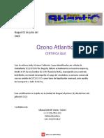 carta laboral ozono
