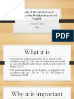 a study of the production of aspiration by Brazilian learners