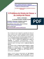 O Problema do Direito de Classe e da Justiça ude Classe _ Texto de P. I. Stutchka