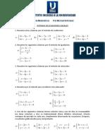 Taller Sistemas de Ecuaciones Lineales 2x2