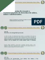 Apoyar diligencias de rescate y restablecimiento de derechos (tercera clase)