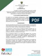 DECRETO 022 medidas sanitarias y acciones de emergencia ante COVID-19
