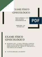 EXAME GINECOLOGICO - KATERINE