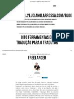 Oito ferramentas de tradução para o tradutor