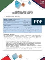 Syllabus del curso  Course syllabus Ingles 0