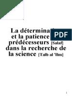 La détermination des Salaf dans la recherche de la science